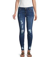 siwy women's hannah destroyed skinny jeans - dark blue - size 23 (00)