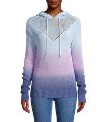 design history women's colorblock cotton-blend hoodie - blue purple - size xs