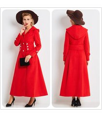 women's trench coat stylish button decoration belt long trench coat