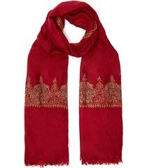 baildar embroidered border pashmina stole