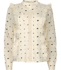 blouse met borduursels verana  naturel