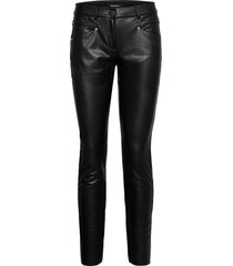 crop leisure trouser leather leggings/broek zwart taifun
