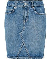 jeanskjol slfmaya mw denim skirt