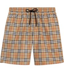 burberry vintage check drawcord swim shorts - neutrals