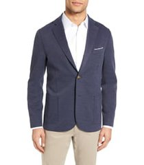 men's eleventy slim fit jersey sport coat, size 60 r eu - blue
