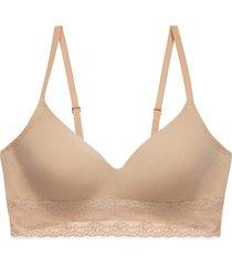 natori bliss perfection contour soft cup bra, women's, beige, size 38c natori