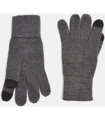 mens grey charcoal gray touchscreen gloves