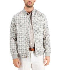 tasso elba men's medallion bomber jacket, created for macy's