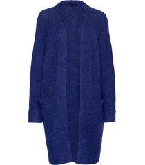 slflanna ls knit cardigan noos gebreide trui cardigan blauw selected femme