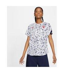 camiseta nike frança pré jogo 2020/21 feminina