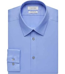 calvin klein men's infinite non-iron light blue slim fit stretch dress shirt - size: 16 34/35