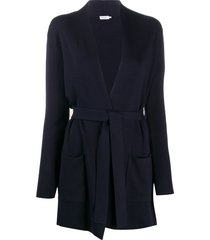 filippa k two-pocket belted cardi-coat - blue