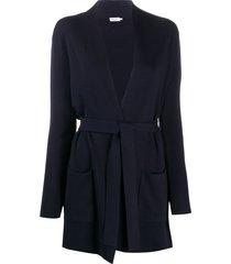 filippa k two-pocket belted cardi-coat - blue