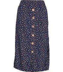 gemina skirt knälång kjol blå cream