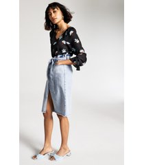 inc paperbag denim midi skirt, created for macy's