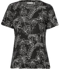almaiw t-shirt t-shirts & tops short-sleeved svart inwear