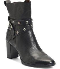 women's b?rn emma block heel bootie, size 9.5 m - black