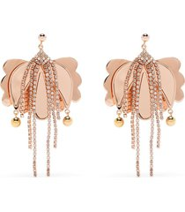 la doublej tulip drop earrings - pink
