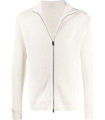 etro zip-up cardigan - white