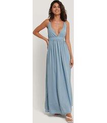 na-kd party flowy strap dress - blue