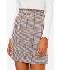 loft plaid paperbag mini skirt