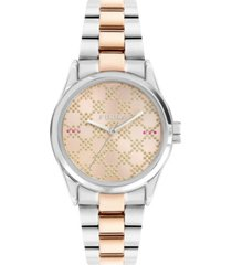 furla women's eva rose dial stainless steel watch