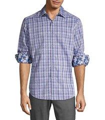 bock plaid & paisley sport shirt