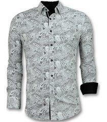 overhemd lange mouw tony backer italiaans blouse paisley print