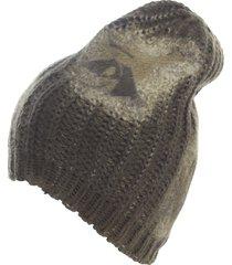 avant toi corn cob stitch hat with sunflowers silk details