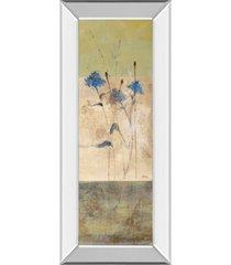 """classy art kimono il by loretta linza mirror framed print wall art - 18"""" x 42"""""""