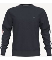 tommy hilfiger men's logo tape sweatshirt sky captain - xxxl