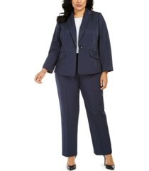 le suit plus size pinstriped pants suit