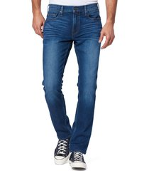 men's paige federal slim straight leg jeans, size 32r - blue