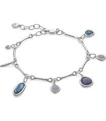 sterling silver siren tonal multi drop bracelet mix