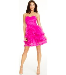 betsey johnson ruched ruffled dress