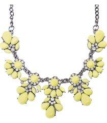 collana elegante delle donne collana del strass del fiore giallo