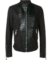philipp plein luxury motorcycle jacket - black