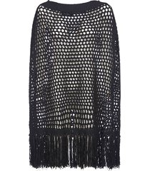 dsquared2 knitted meshed poncho