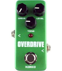 kokko fod3 mini guitarra eléctrica sobrecarga tubo monoblock de pedal de efectos de sonido (verde)