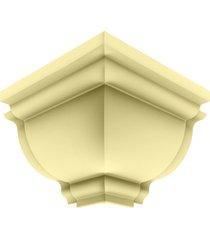 cantoneira rodaforro externa pvc plasbil premium, creme - 4 peças
