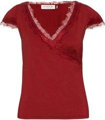 t-shirt ss t-shirts & tops short-sleeved röd rosemunde
