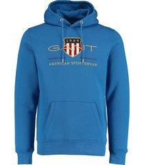 gant hoodie archive shield blauw rf 2047056/422