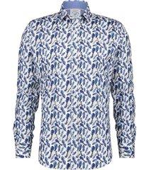 overhemd stretch veren blauw