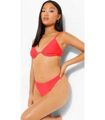 petite hipster bikini broekje met touwtjes, red