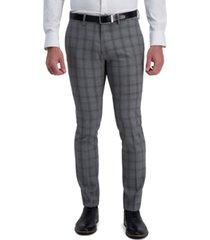 kenneth cole reaction men's skinny-fit glen plaid dress pants