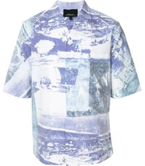 3.1 phillip lim beach print shirt - multicolour