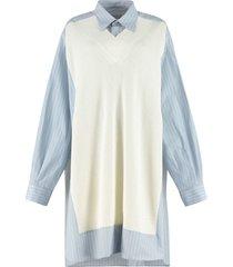 maison margiela oversize cotton dress
