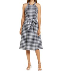 women's gibsonlook gingham belted midi dress