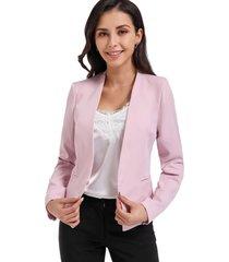 blazer clásico entallado rosa nicopoly