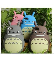 3d cute cartoon animals totoro soft silicone case for iphone 4 4s 5 5s 6 6 plus